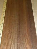"""Fumed Larch wood veneer 7"""" x 17"""" raw with no backing 1/42"""" thickness """"A"""" grade"""