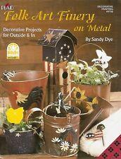 Sandy Dye : FOLK ART FINERY ON METAL Painting Book - NEW!