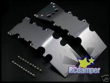 ALUMINUM FRONT+REAR LOWER SKID PLATE S TRAXXAS T-MAXX 2.5 3.3 E-MAXX 4910 4907