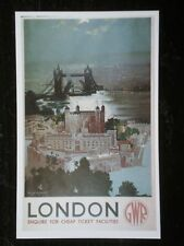 POSTCARD GWR LONDON - TOWER OF LONDON - CHEAP TICKETS