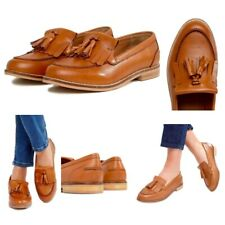 Womens Loafers Flat Tan Tassel Ladies Casual Work School Shoes Pumps Size 3-9 Ne