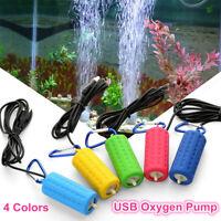 Portable USB Aquarium Fish Tank Oxygen Air Pump Mute Energy Saving Supplies New