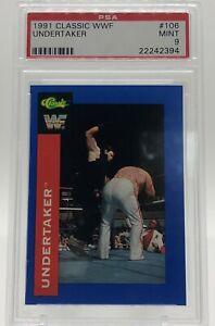 1991 Classic WWF - UNDERTAKER #106 - Rookie - PSA 9 - Top Grade!  None higher