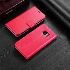 Luxury Magnetic Card Pouch Wallet Flip Stand Leather Case Cover Skin For Samsung