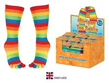 STRIPEY TOE SOCKS Soft & Stretchy Ladies Mens Kids Fancy Dress Christmas Gift UK