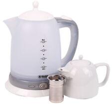 Elektrischer Teekocher mit Keramik Kanne (1,8 L. & 0,8 L.) - 2200 Watt