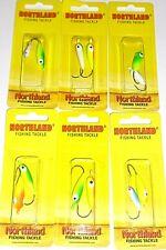 Northland Tackle 1/0 & #2 Gum Drop Floating Jigs (GDB-19-Lot of 6 pks)