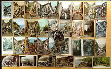 34 vintage Postcards All CLOVELLY DONKEYS, most on HIGH STREET Devon England UK