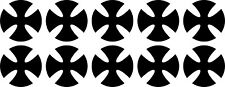 10x Malteserkreuz Maltese Cross 11 Aufkleber