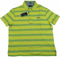 Armani Jeans Mens Yellow Stripe H/S Polo Tshirt Sz XXL & XXXL BNWT