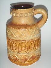 BAY Keramik Vase Krug 93-25 Relief sand braun  Bodo Mans - Mid Century WGP
