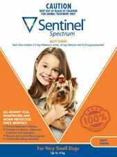 Sentinel 1891571 Flea and Worm Up To 4kg Dog Treatment - Pack of 6