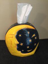 HANDMADE Moon and Stars Tissue Box Cover *STUNNING*