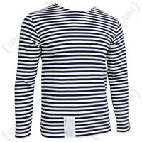 Genuine Russian Navy Telnyashka - 100% Cotton Long Sleeve Striped T-Shirt New