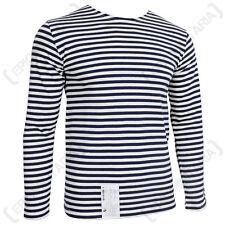 Genuine Russian Navy Telnyashka - 100% Cotton Long Sleeve Striped T-Shirt New