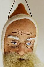 WEIHNACHTSMANN Santa Claus Nikolaus Christbaumschmuck aus Dresdner Pappe um 1910