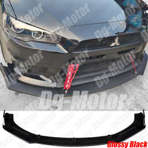 Fits Mitsubishi Lancer Front Bumper Lip Splitter Spoiler Sporty Styling Body Kit