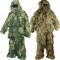 MENS ARMY SAS SNIPER GHILLIE SUIT OUTFIT JACKET TROUSERS HAT RIFLE WRAP DESERT