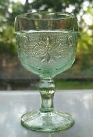 Tiara Indiana Glass Chantilly Green Sandwich 4 ounce Wine Glass Goblet