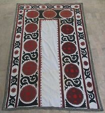 UZBEK SILK HAND EMBROIDERED SUZANI JOYPYSH # 8489