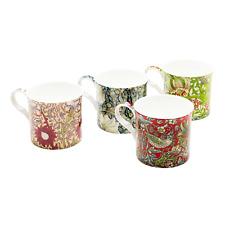 Set of 4 Morris Rose Mugs