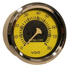 "VDO Allentare Yellow/Blue 8000RPM 3-3/8"" (85mm) Outboard Tachometer - 12V"