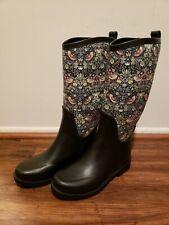 UGG Australia Women's Floral Rubber Rain Boots Wool Insole Size 5