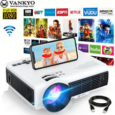 More details for vankyo wireless wifi projector lcd 1080p full hd support home cinema hdmi vga uk