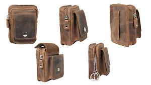 Kleine Herren Geldbörse Gürteltasche mini Geldbeutel für den Gürtel echt Leder