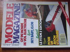 $$w Revue modele magazine N°445 FITEM  servo C 3311  Clou  Fliper  Sky Baby SF