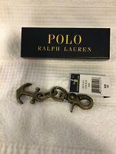 Polo Ralph Lauren Brass Anchor Keychain Core SLGS New in Box