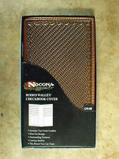 NOCONA TAN SADDLE STAMPED LEATHER RODEO WALLET/CHECKBOOK COVER