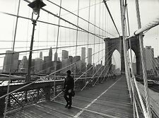 New York, the Brooklyn-Bridge, the Word Trade Center 1983