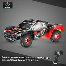 100% Original Wltoys 12423 1/12 2.4G 4Wd Electric Brushed Short Course Rtr Car