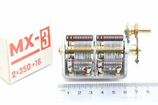 VARIABLE CAPACITOR MX-3 2x 350pF + 16pF NEW 1PC. CA50yA51U44F291215