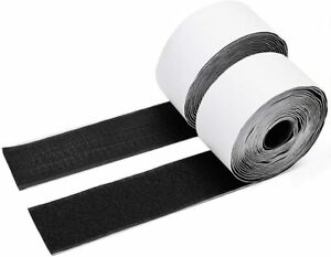 Self Adhesive HOOK and LOOP Fastener Tape Sticky Back Black Fastening Organiser