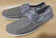 Florsheim Mens Suede Boat Shoes 12 M Casual Oxfords Deck Footwear