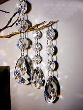 5PCS Teardrop Acrylic Crystal Beads Garland Chandelier Wedding Party Decor Hang
