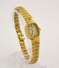 ROTARY women's ladies Swiss made mechanical gold plated wristwatch