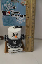 NEW YORK YANKEES MLB We Want Smore Wins Team Christmas TREE ORNAMENT 2 5/8 Inch