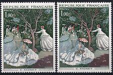 "FRANCE STAMP TIMBRE 1703 "" FEMMES JARDIN MONET VARIETE COULEUR "" NEUFxx SUP M359"