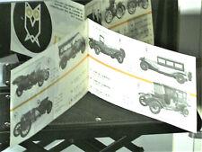 Dépliant 1965  DUGU :  AUTOS MINIATURES 1890/1920 (Fiat, Lancia, ancetres)