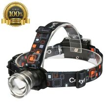 Strong LED Camping Headlamp CrazyFire 1600 Lumens CREE LED Headlamp Zoomable 3 M