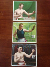 1910 T218 Boxing Mecca Hassan 3 Card Lot No Reserve! (Stone Walsh Griffin)