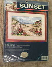 Sunset Needlepoint Kit SAND DUNES Beach Seashore Pearl Lowther Slobodian Rare