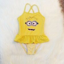 Universal Studios Despicable Me Minion Yellow Girls Swimsuit Youth 5