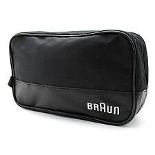 Braun Men's Grooming Travel Toiletry Shave Case Wash Bag Zippered (Black)
