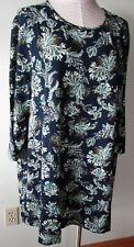J.jill Wearever A-line Tunic Shirt 3x Deep Blue Paisley
