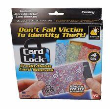 CARD LOCK CREDIT RFID PROTECTION CARD SLEEVES (SET OF 4) PAISLEY