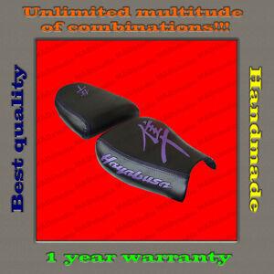 CUSTOM Design Seat Cover Suzuki Hayabusa 99-07 black+purple 001